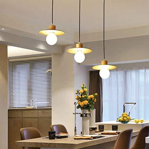 LFK Registros De Madera Nordic Arañas Simples, Arañas E27 Decoración Moderna Lámparas Japonesas Cocina Restaurante Café 3