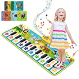 RenFox Upgrade Baby Musical Mats with 42 Music Sounds, Musical Toys Child Floor Piano Keyboard Dance Mat Animal Blanket Touch Playmat, Early Education Toys Gift for 1 2 3+Years Old Boys Girls Toddlers