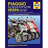 Piaggio Vespa: Sfera, Typhoon, Zip, Fly, Skipper, Hexagon, Liberty, NRG, B125, X8 & X9 1991 to 2009 and Vespa ET, LX, S & GT 1996 to 2009 (Haynes Service & Repair Manual)