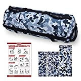 ODYSITE Sandbags for Fitness, Sand Bags with 6 Durable Handles and 10-60 Lbs Filler Bag, Adjustable Sandbag Heavy Duty Workout for Exercise and Military Conditioning (Sand NOT Included)