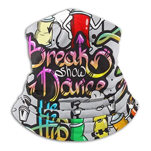 li Gesichtsbedeckung Graffiti auf der Straße Hals Gamasche Bandanas für Staub Wind Sonnenschutz, im Freien, Festivals, Sport Schwarz