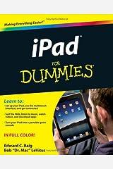 iPad For Dummies Paperback