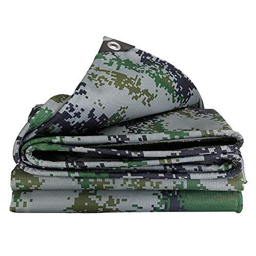 Wangjunxiu Waterdichte stof, waterdicht, verdikt, camouflage, vrachtwagens, dekzeil, paraplu, Oxford, PVC, waterdicht 6x8M Camouflage.