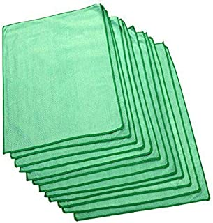The Rag Company (12-Pack) Microfiber Window, Glass, Mirror & Chrome Professional Cleaning and Detailing Towels LINT-Free, Streak-Free (16 x 24)