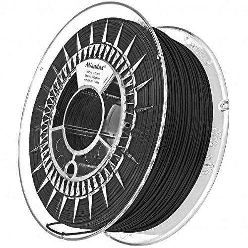 Minadax 0,75kg qualità premium 1,75mm Hips filamento NERO PER STAMPANTE 3d prodotto in Europa