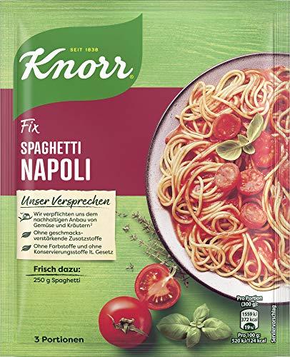 Knorr Fix Würzbasis Pasta Spaghetti Napoli, 1er Pack für 3 Portionen (1 x 39g )