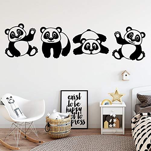 Tesoro nacional chino de dibujos animados lindo adorable Panda bebé Animal vinilo calcomanía niños habitación dormitorio decoración del hogar arte pared pegatina mural cartel