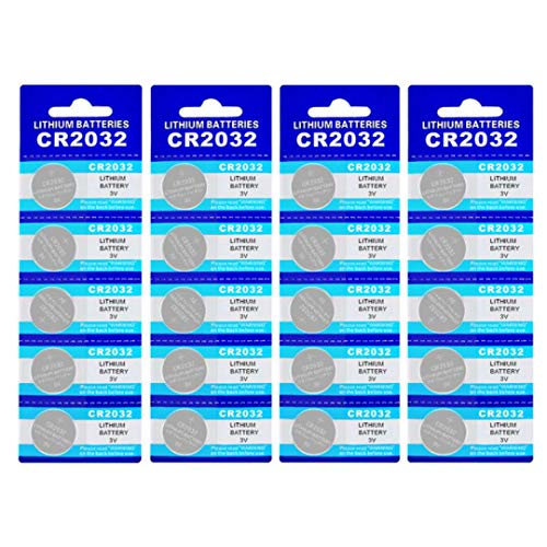 Price comparison product image 20 Pack CR2032 Battery 210mAh 3 Volt Lithium Battery Coin Button Cell 2023