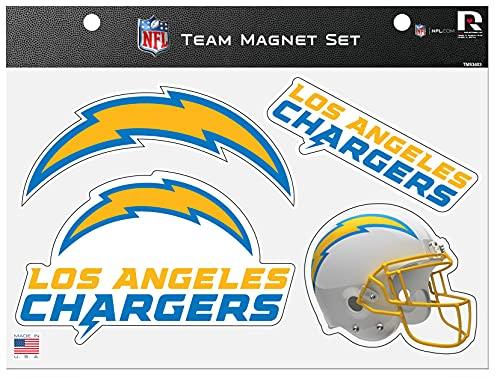 Los Angeles Chargers Die Cut Team 4 Magnet Set Sheet