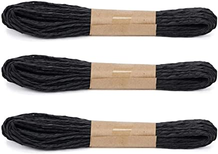 Raffia Stripes Paper String,Twisted Paper Craft String//Cord//Rope for DIY Making Twisted Paper Craft String//Cord//Rope 2mm Thickness,32 Yards 30M