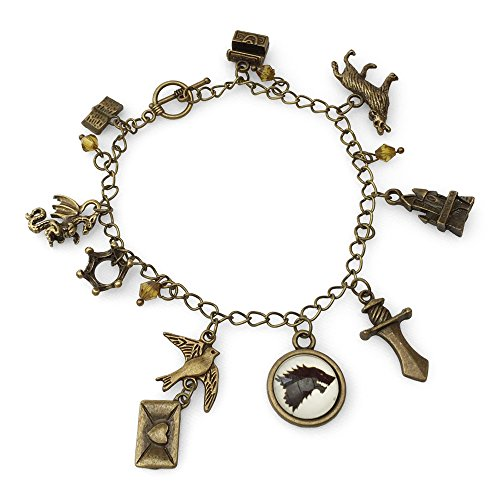 Orion Creations TV inspiriert. Game of Thrones. Bettelarmband - Armband mit bernsteinfarbenen Perlen
