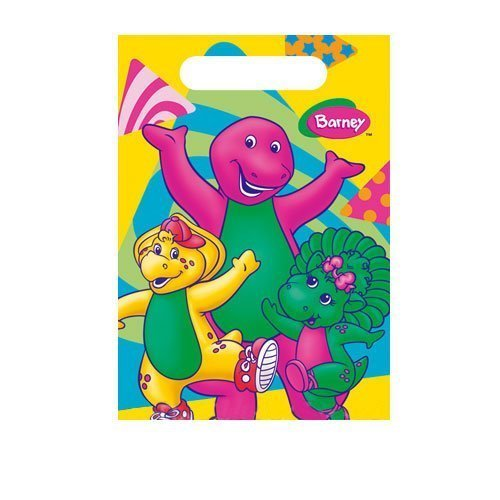 Factory Card and Party Outlet Barney Treat Sacks 8 ct