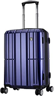 WHPSTZ Suitcase Suitcase Airplane Wheel Travel Large Capacity Luggage Lock Pure PC Computer Trolley Case Waterproof Seal Trolley case (Color : Blue, Size : 38x23x58cm)