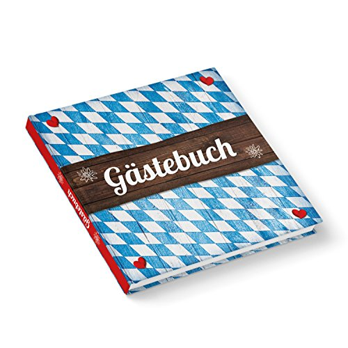 Logbuch-Verlag Gästebuch BAYERN BAYERISCH blau weiß kariert Hochzeitsgästebuch Herzen rot Hotel...