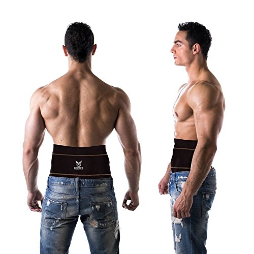 Copper Compression Gear Premium Fit Back Brace Lower Lumbar Support Belt. Adjustable for Men and Women. COMFORTABLE Copper Infused Back Wrap Perfect for Working or Playing Sports (Waist 28