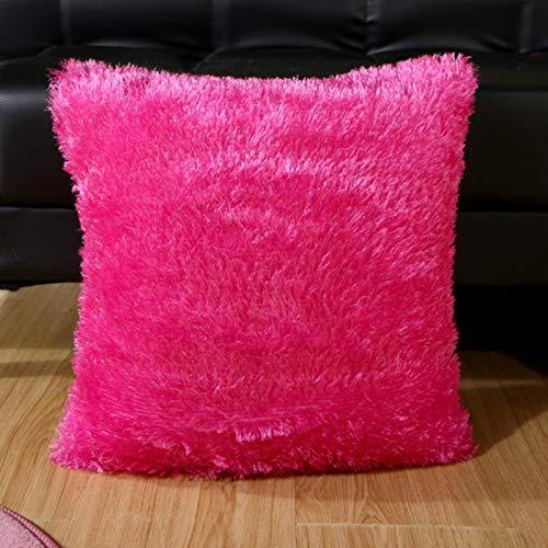 WYXMZ Funda de almohada de felpa suave y esponjosa decorativa, fundas de almohada para sofá, sala de estar, funda de cojín de piel para el hogar al por mayor