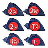 Clipquik Premium XL Clipper Guards, Strong & Sturdy 2.5 inch, 2.25', 2', 1.75', 1.5', 1.25' (#20, 18, 16, 14, 12, 10) Extra Long, Large Guide Comb Set Fits Most Wahl Full Size Hair Clippers
