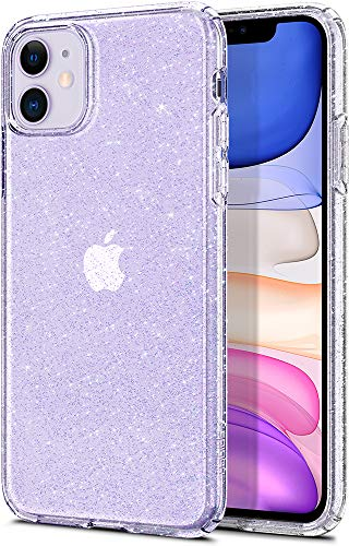 Spigen Liquid Crystal Glitter Kompatibel mit iPhone 11 Hülle, Glitzer TPU Silikon Handyhülle für iPhone 11 Case Crystal Quartz 076CS27181