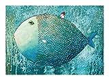 1000 Piezas de Rompecabezas for Adultos y Adolescentes Los niños Kid, de Madera Montaje de paisajes campestres Hermosa Flor Cerebro Desafío Regalo Educativo del Juguete del Juego (Color : Big Fish)