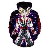 Unisex Anime Sweatshirt,Unisex Hoodie, Dragon Ball Z Goku 3D Printed Pullover Hoodie Sweatshirt-Wy-1090_6Xl