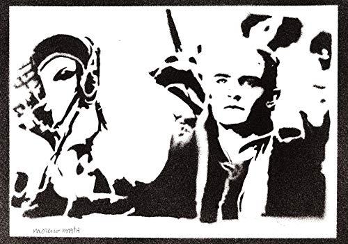 Poster Legolas El Señor de los Anillos Grafiti Hecho a Mano The Lord of the Rings Handmade Street Art - Artwork