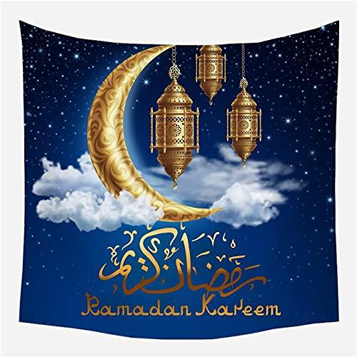 KHKJ Tapiz de Ramadán para Colgar en la Pared, Manta de Viaje, Toalla de Playa, servilleta Salvaje, nuevos tapices de Pared Decorativos de Granja Moderna, A1 200x180cm