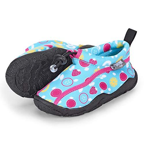 Sterntaler Baby - Mädchen Aqua-Schuhe mit Gummizug und rutschfester Sohle, Farbe: Türkis, Größe: 21/22, Alter: 18-24 Monate, Art.-Nr.: 2512105