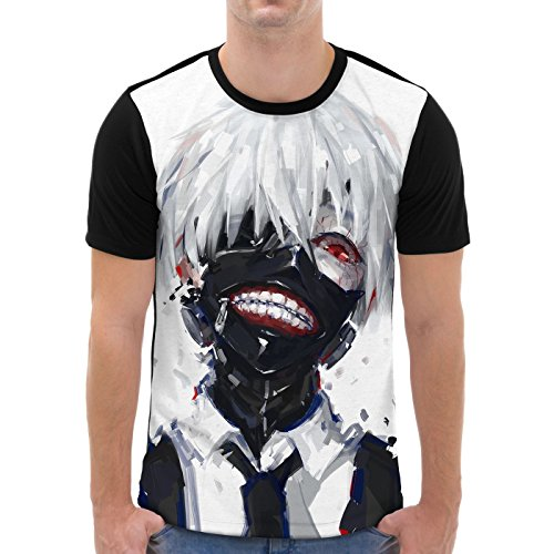 VOID Ghoul Kaneki Camiseta gráfica para Hombre T-Shirt All-Over Print Tokyo Anime Manga