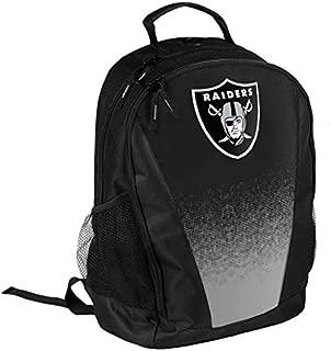 FOCO NFL Oakland Raiders Logo Gradient Print Primetime Deluxe Backpack, Team Color, Standard, One Size