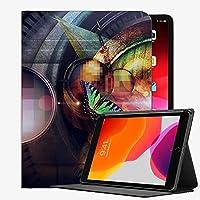 iPad Air2 9.7インチケースカバー、レンズバタフライ色のガラスボールPAD72ケーススリムシェルカバーiPad iPad Air2 9.7インチ