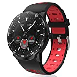 HopoFit Smart Watch for Android iOS Phones IP68 Waterproof Smartwatch, Fitness Tracker Sport Watch with Blood Pressure Heart Rate and Sleep Monitor, Stopwatch for Men Women (red)