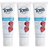 3-Pack Tom's of Maine Fluoride-Free Children's Toothpaste (Silly Strawberry, 4.2oz each)