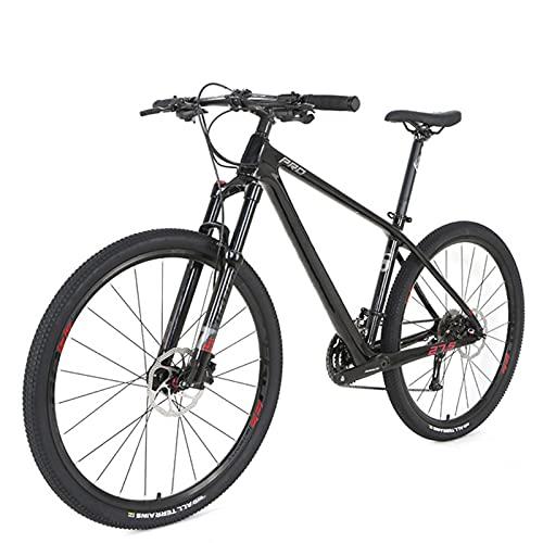 Clouds Bicicleta de montaña de 29 Pulgadas de Fibra de Carbono, Bicicleta de montaña de Lujo de 30 velocidades, Bicicletas de Carreras con Freno de Disco Doble, Unisex para entusiastas del Cic
