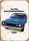 Tamengi 1970 AMC Hornet clásico Look Señal de Metal de 20,32 x 30,48 cm