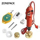 ZONEPACK Manual Electric Bottle Capping Machine Handheld Cap Sealer Sealing...