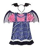 Talla 130-7/8 años - disfraz - vampiro - vampirina - niña - disfraz de carnaval de halloween - cosplay - accesorios - diadema - alas cosplay