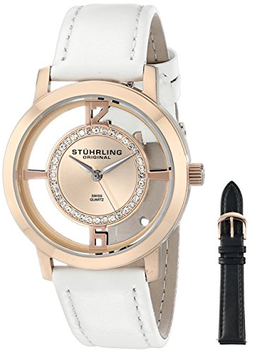 Stuhrling Original Winchester Tiara Women's Quartz Watch with Rose Gold Dial Analogue Display and...