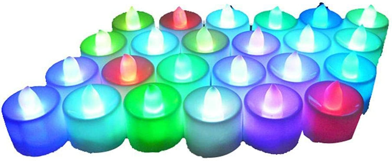 Gfone 24Pcs elektronische Licht LED Kerze rauchfreie Geflschte Kerzen Hochzeit LED Lampen
