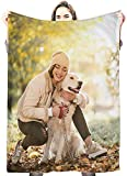 Personalized Photo Blanket for Baby, Kids and Adults, Mom, Grandma. Custom Photo Blanket from Your Favorite Picture. Close to Heart Customized Throw. Gift for Father's Day And Mothers Day ( 50' x 60')