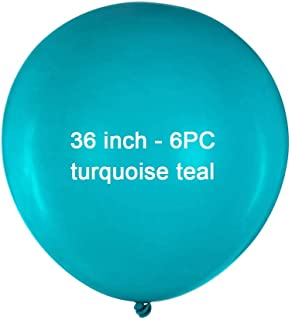 36 inch Gifted Turquoise Latex Balloons Large Round Balloon Giant Teal Latex Balloons Jumbo Big Balloons for Birthday Wedd...
