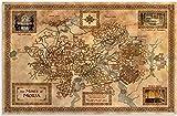 ZYHSB Rompecabezas 1000 Piezas Mapas De Imágenes De Ensamblaje De Madera Póster De La Tierra Media Juegos para Adultos Juguetes Educativos Me579Nr