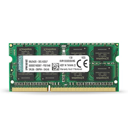 Kingston KVR1333D3S9/8G - Memoria RAM DDR3 (CL9 204-Pin SODIMM, 1333, 8 GB, KVR)