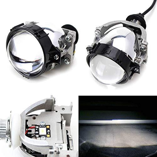 iJDMTOY (2) 30W High Power LED Bi-Xenon Projector Lens Compatible With Headlight Retrofit, Custom Headlamp Upgrade