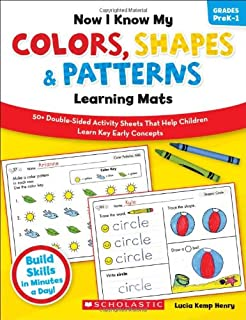 Now I Know My Colors, Shapes & Patterns Learning Mats, Grades PreK-1
