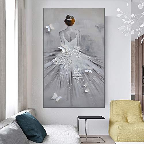 Rahmenlose Malerei Mädchen Kunst Hochzeit Poster nordischen Stil Bild Wandkunst Wohnzimmer DekorationZGQ5907 60X90cm