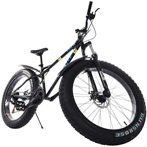 26 Inch Mountain Bike Fat Tire Junior Bike 21 Speed High-Tensile Steel Frame Bicycle Trail Bikes Lightweight and Durable City Riding