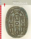 Notebook: Scarab: Neferkara and Hieroglyphs (ankh and djed signs), Middle Kingdom–Second Intermediate Period, Dynasties 12–17 (about 2055–1550 BC), Egyptian, Egypt, Faience