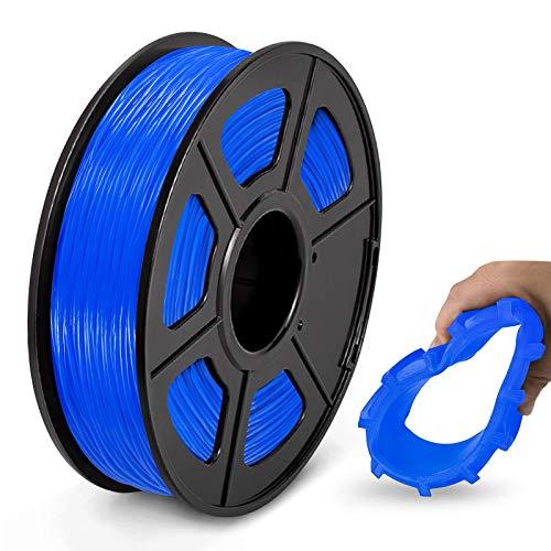 Filamento TPU 1,75 mm, Filamento Flessibile per Stampante 3D JAYO TPU Shore 95A, 0,5 kg TPU Blu, Precisione Dimensionale +/- 0,02 mm