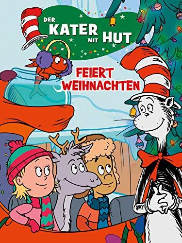 Der Kater mit Hut feiert Weihnachten