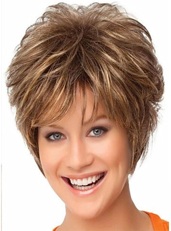 Mode Perücken WIGSTYLE synthetische Perücken Haarmode braune Farbe Kurz Frau B076NWZ1S6  Hohe Qualität     Up-to-date Styling